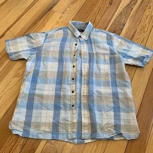 Tasso Elba button down short sleeve shirt size L